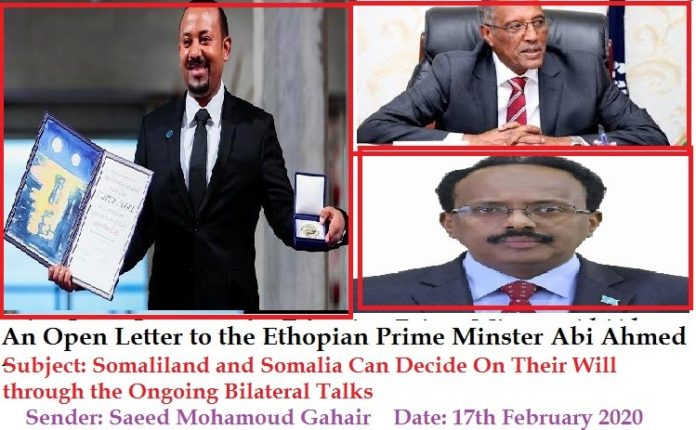An Open Letter to the Ethiopian Prime Minster Abi Ahmed (By: Saeed Mohamoud Gahair)